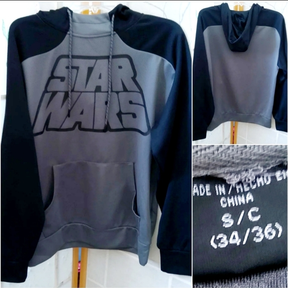 Star Wars active hoody pullover size small (NWOTS)